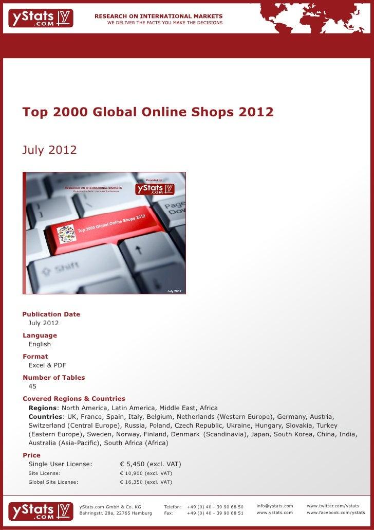 Brochure & Order Form_Top 2000 Global Online Shops 2012_by yStats.com
