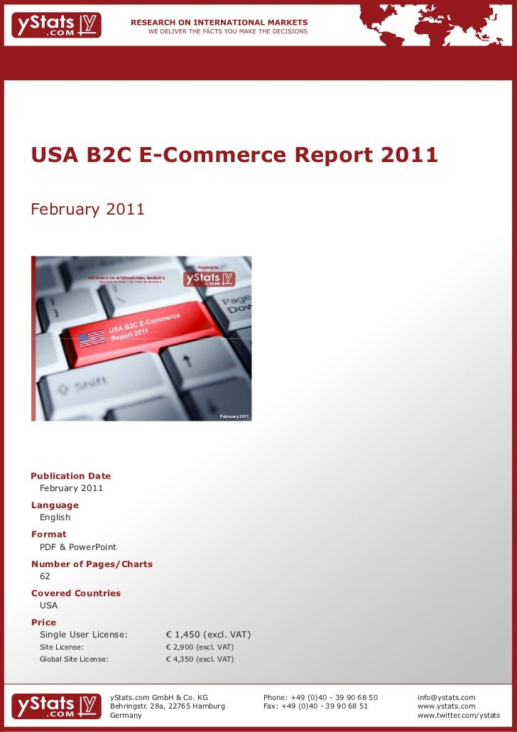 USA B2C E-Commerce Report 2011