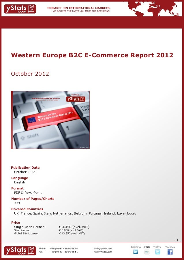 Western Europe B2C E-Commerce Report 2012October 2012                                                                     ...