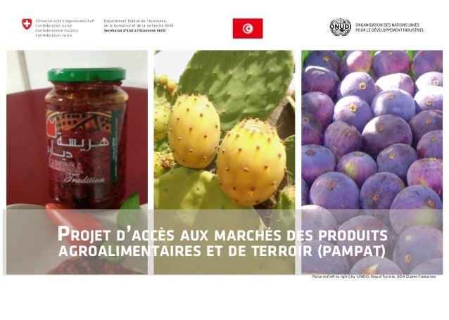 Projet d'accès aux marchés des produits  agroalimentaires et de terroir (PAMPAT)  Pictures (left to right) by UNIDO, Nopal...