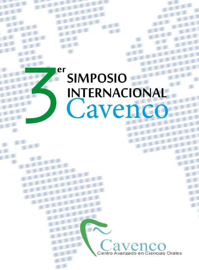 3er     SIMPOSIO     INTERNACIONAL Cavenco