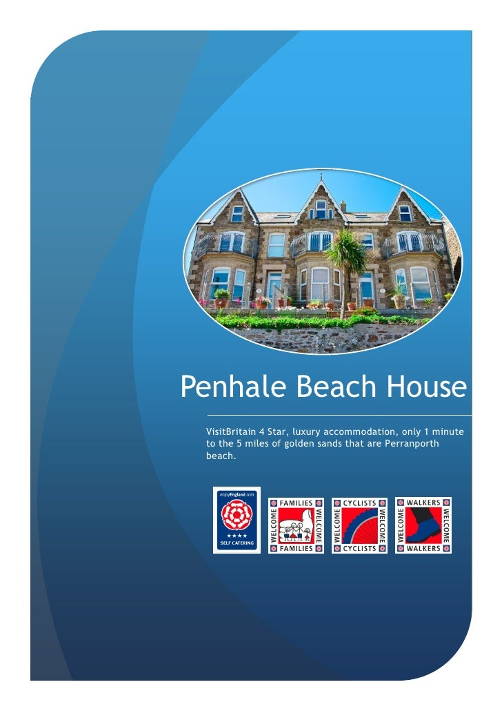 Penhale Beach House  VisitBritain 4 Star, luxury accommodation, only 1 minute  to the 5 miles of golden sands that are Per...