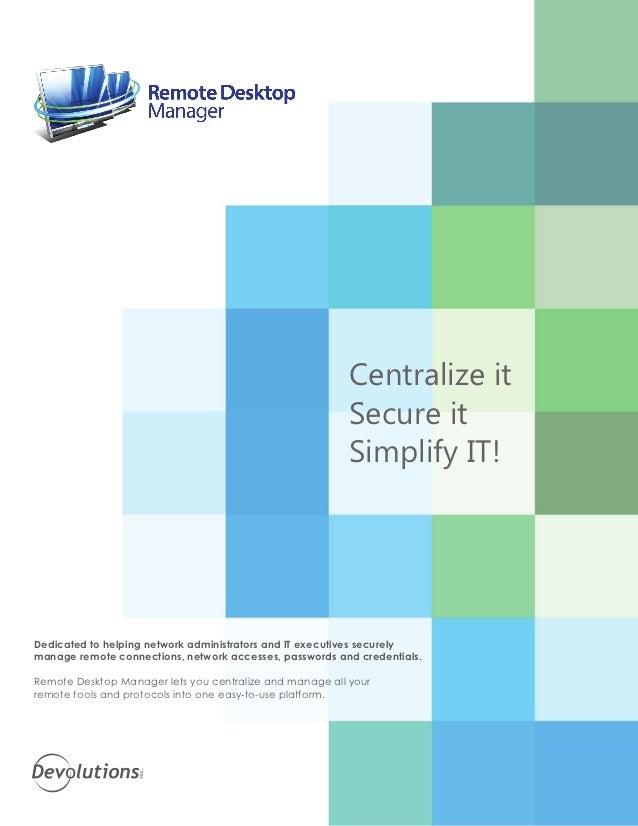 Remote Desktop Manager brochure