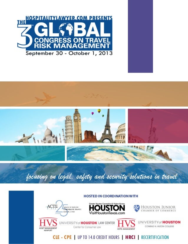 CLE - CPE | UP TO 14.0 CREDIT HOURS | HRCI | RECERTIFICATION focusing on legal, safety and security solutions in travel HO...