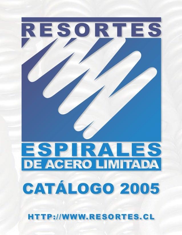 CATÁLOGO 2005 HTTP://WWW.RESORTES.CL
