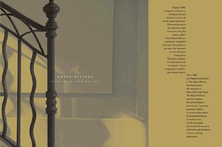 Brochure Royal Riviera
