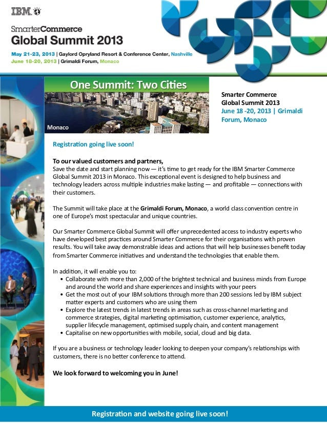 Smarter Commerce                                                                 Global Summit 2013                       ...