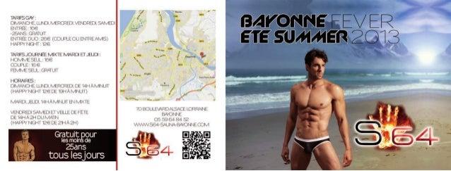 Brochures GAY S64 SAUNA FEVER BAYONNE 2013