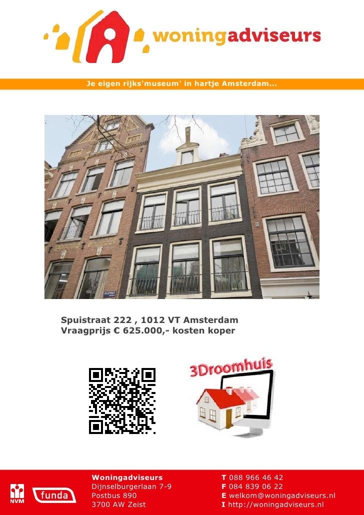 Brochure spuistraat 222 - Amsterdam