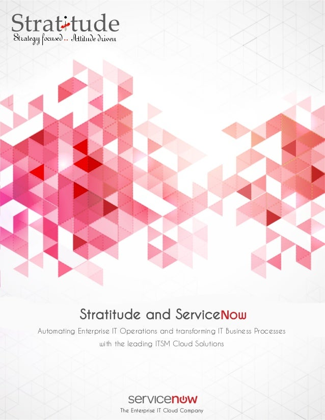 Brochure, Stratitude ServiceNow ITSM Services