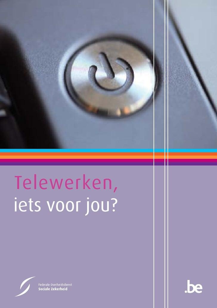 "Brochure: ""Telewerk: iets voor jou?"""
