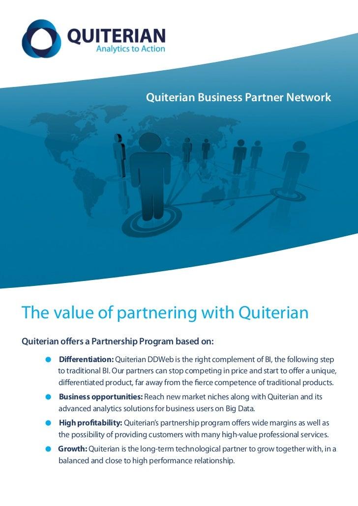 Quiterian Business Partner NetworkThe value of partnering with QuiterianQuiterian offers a Partnership Program based on:  ...