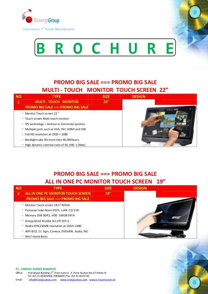 Brochure touch screen (2012)