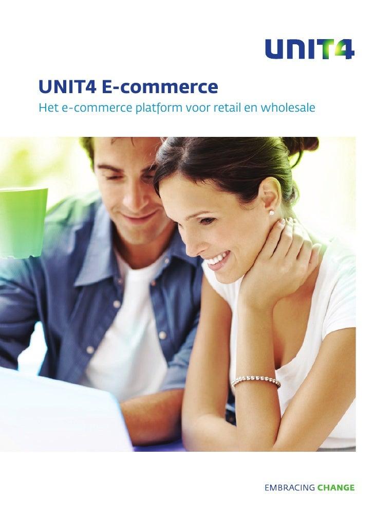 UNIT4 E-commerceHet e-commerce platform voor retail en wholesale