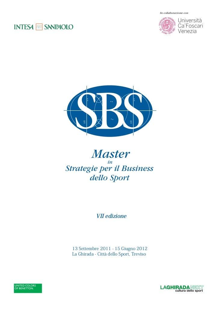 Brochure Master SBS - VII edizione