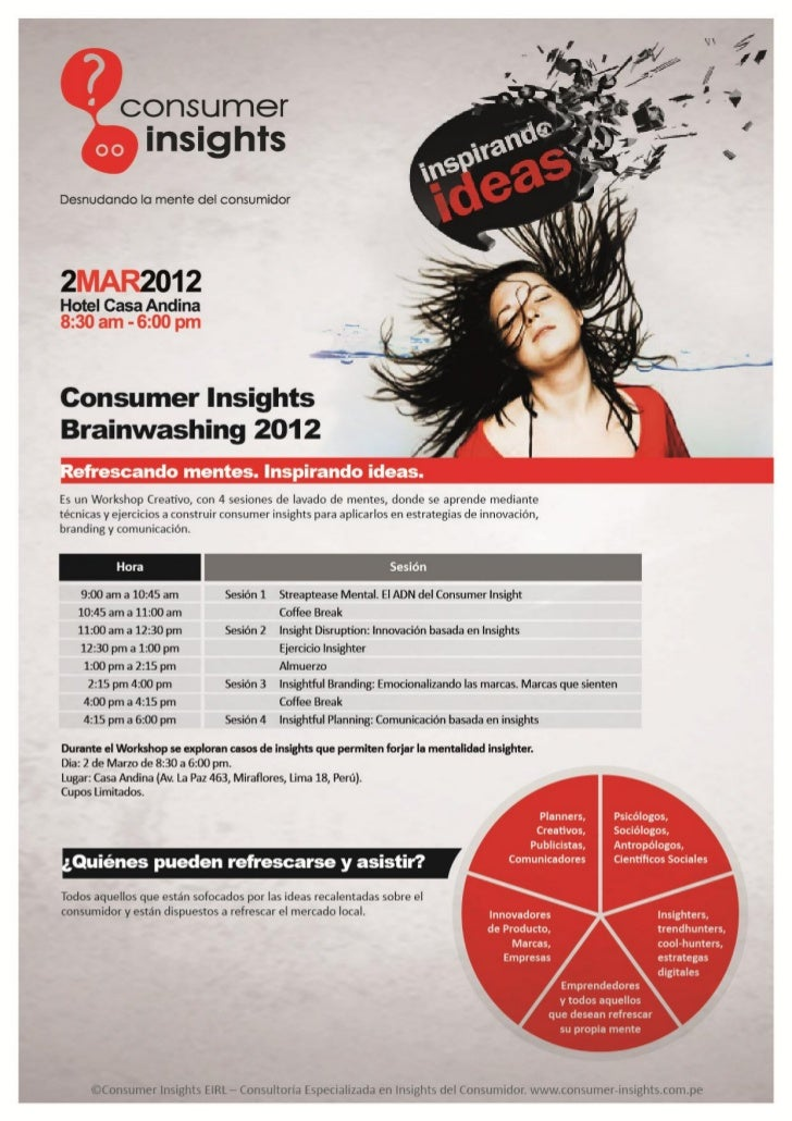 Insights Brainwashing Workshop, 2 Marzo, Lima-Peru