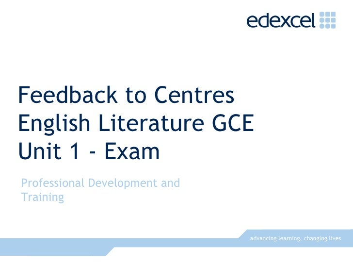 Edexcel assignment feedback sheet