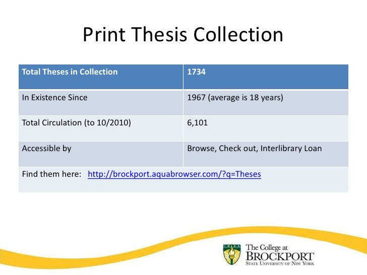 Thesis collection