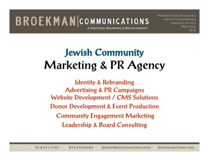 Jeremy Broekman - Jewish Marketing Consultant