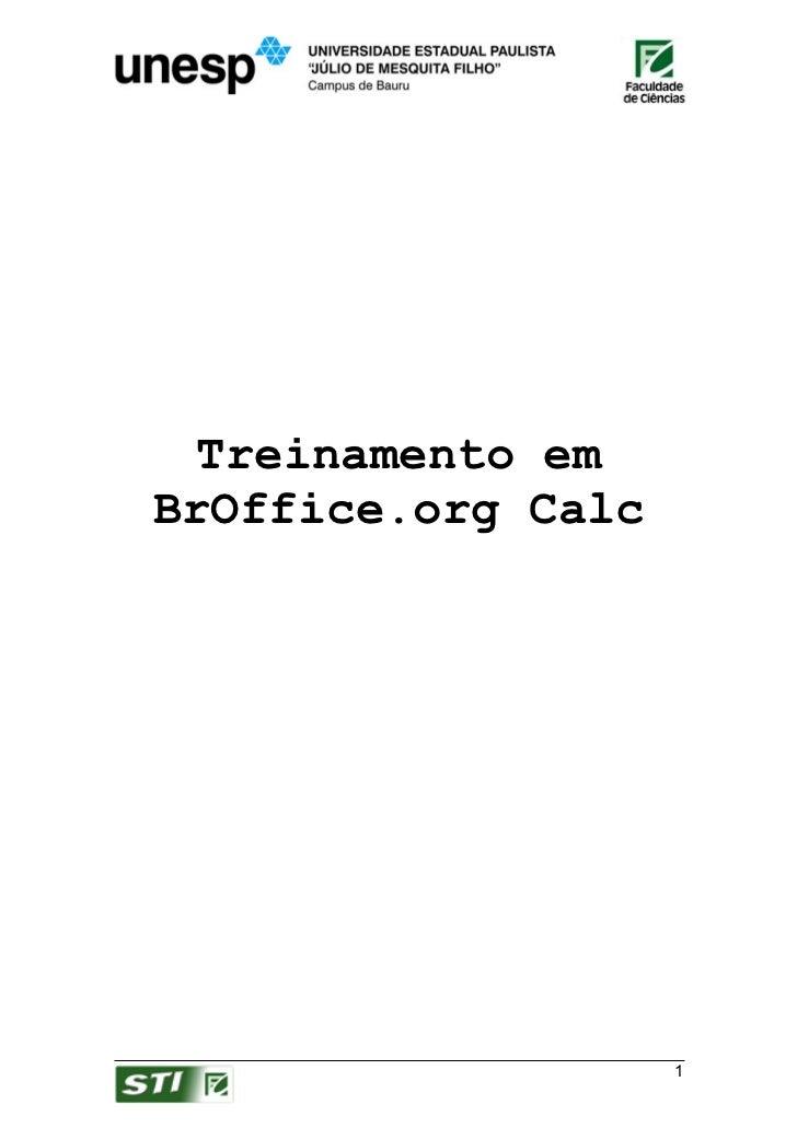 Treinamento emBrOffice.org Calc                    1