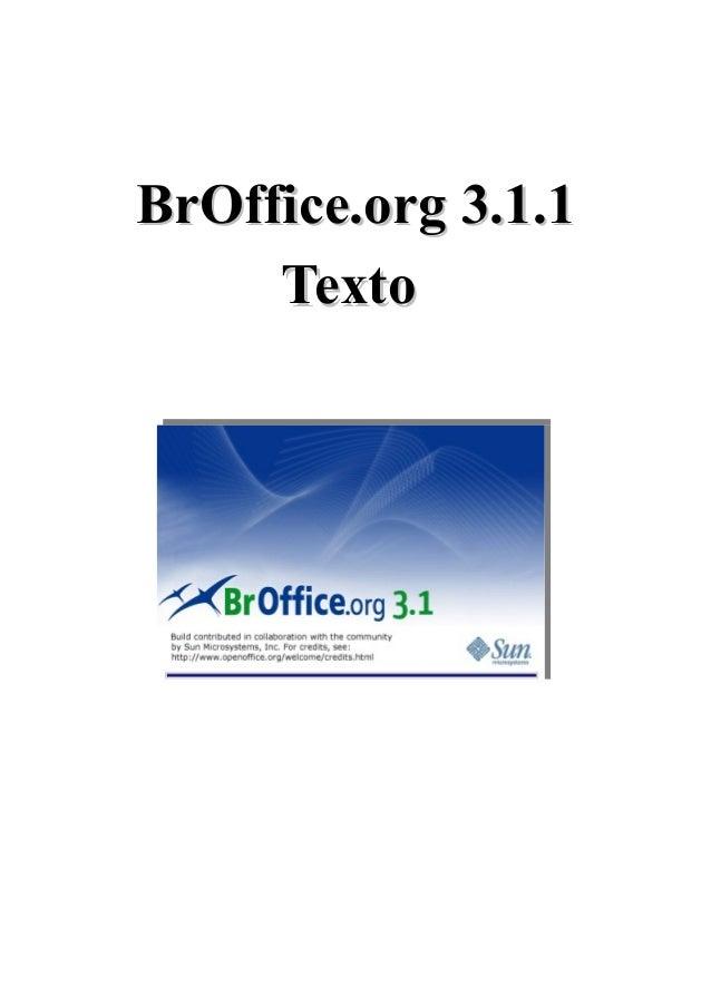 BrOffice.org 3.1.1 Texto  Outubro /2009