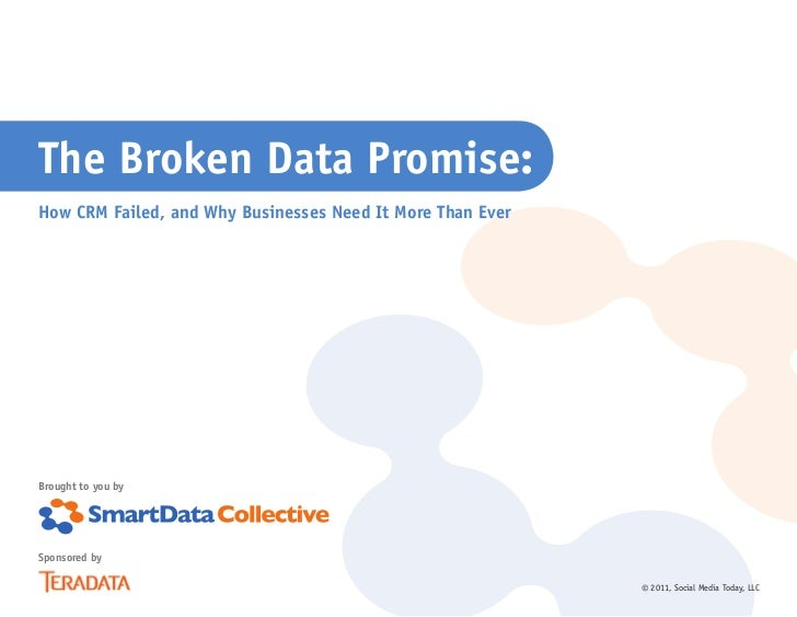 The Broken Data Promise:How CRM Failed, and Why Businesses Need It More Than EverBrought to you bySponsored by            ...