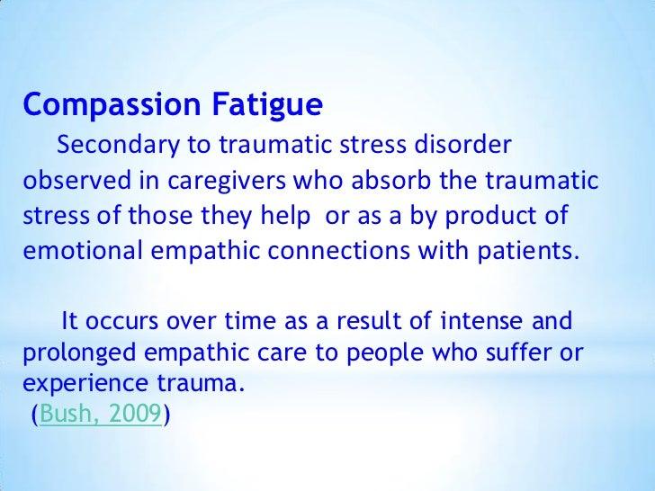 compassion fatigue and burnout