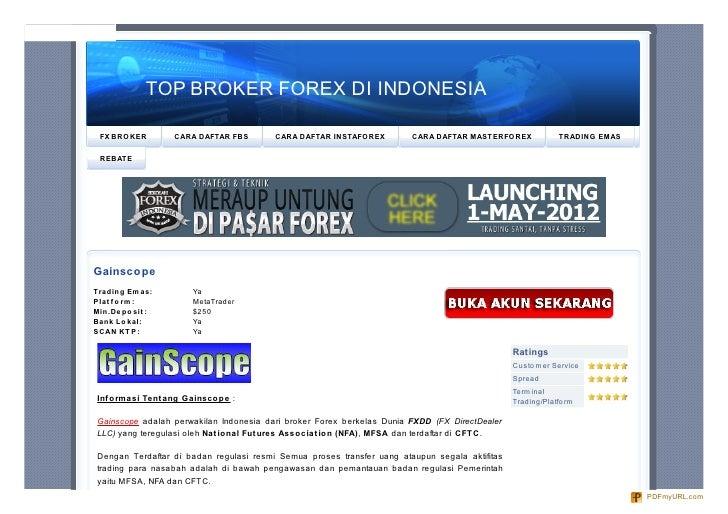 Broker Forex Indonesia Terbaik Terpercaya