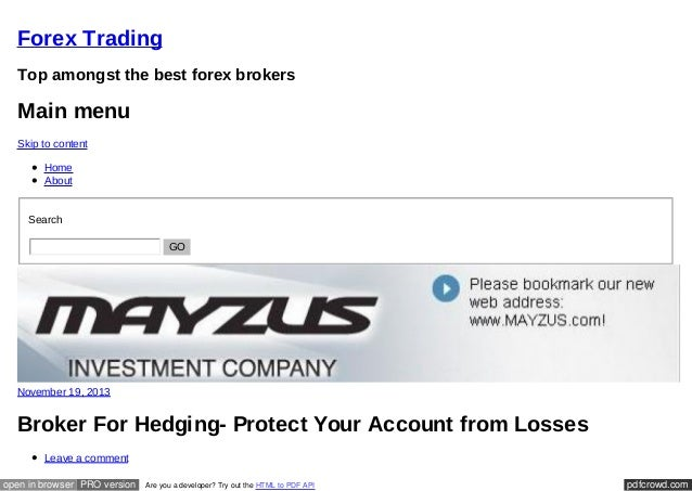 Us forex brokers allow hedging