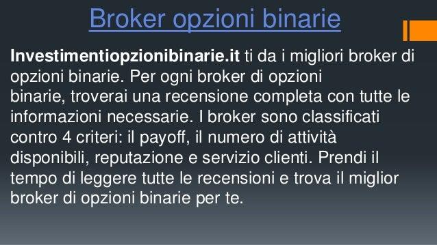 Miglior broker per le opzioni