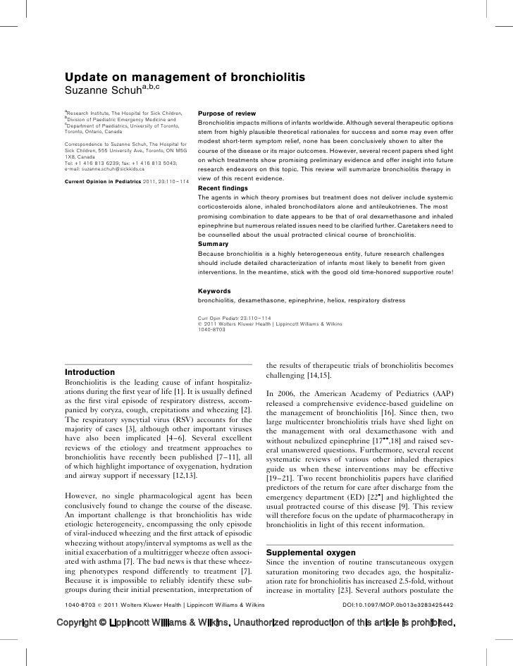 Bronchiolitis[2011]