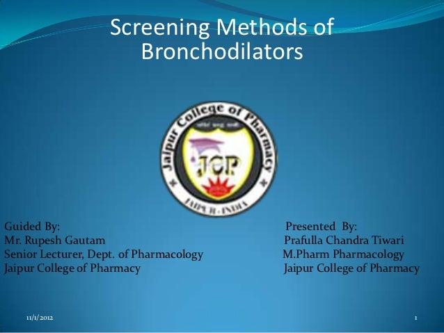 Screening Models of Bronchodilator