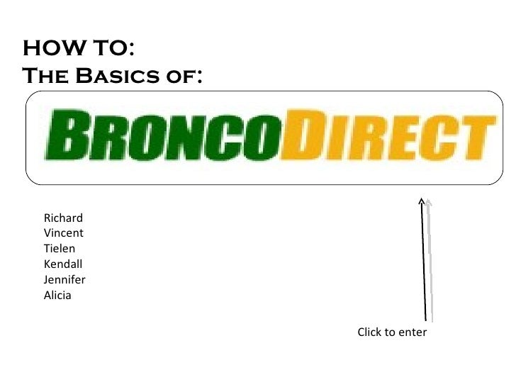 HOW TO:  The Basics of: Richard Vincent Tielen Kendall Jennifer Alicia Click to enter