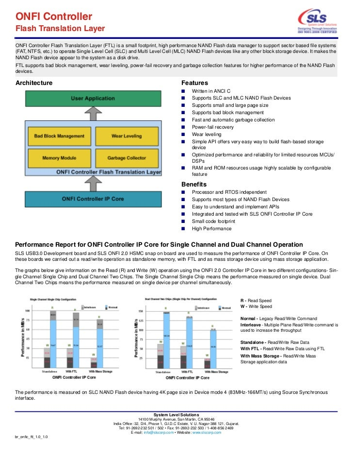 ONFI ControllerFlash Translation LayerONFI Controller Flash Translation Layer (FTL) is a small footprint, high performance...