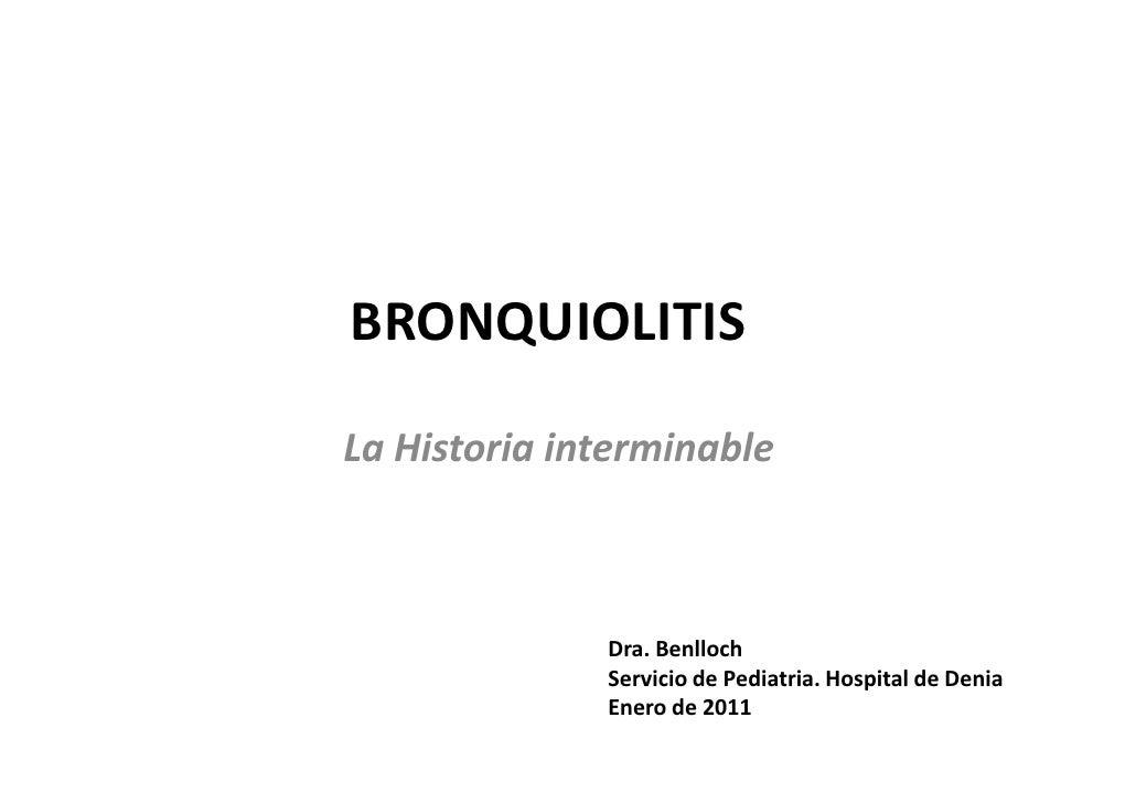 Bronquiolitis 2010