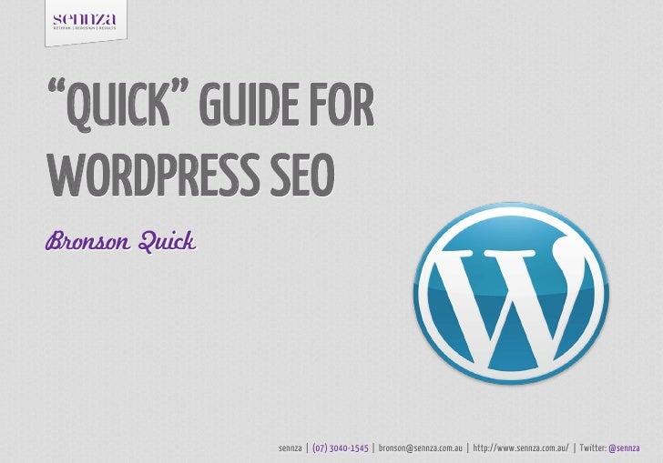 Quick Guide For WordPress SEO