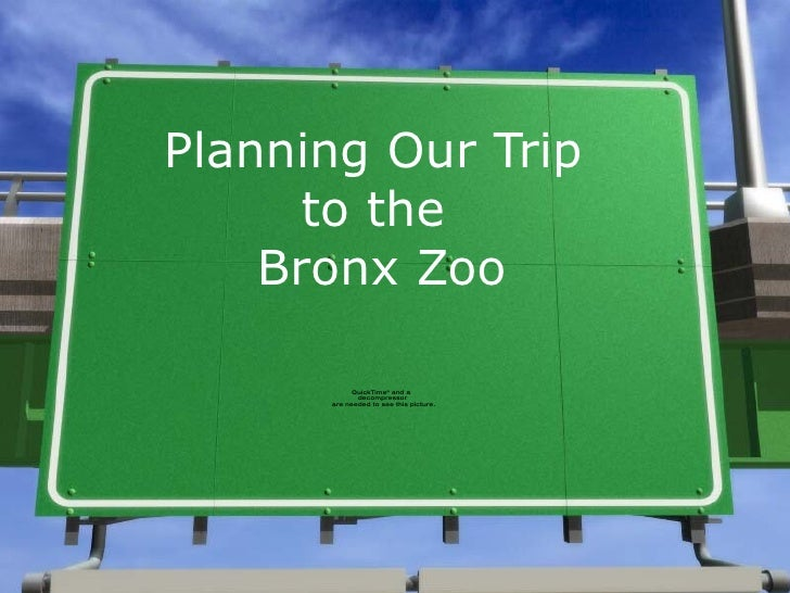 Planning Our Trip  to the  Bronx Zoo