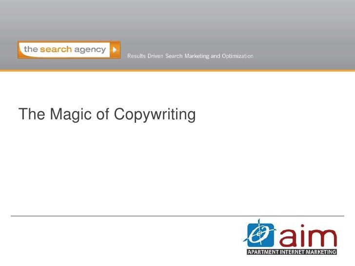 The Magic of Copywriting<br />