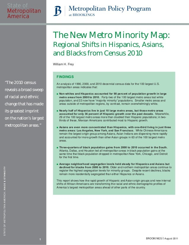 The New Metro Minority Map:                                                       Regional Shifts in Hispanics, Asians,   ...