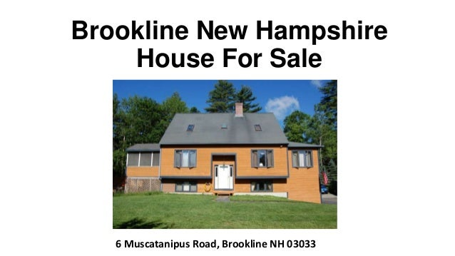 Brookline NH home for sale