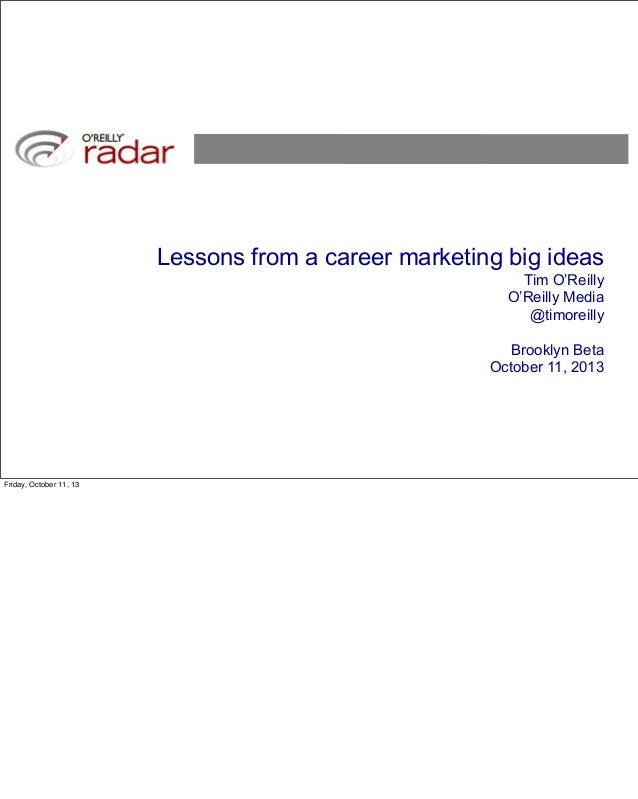 Lessons from a Career Marketing Big Ideas
