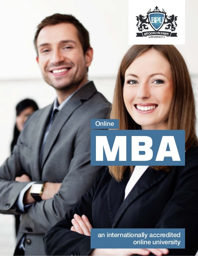 Brooklyn Park University's Online MBA program - The right choice for Businessmen!