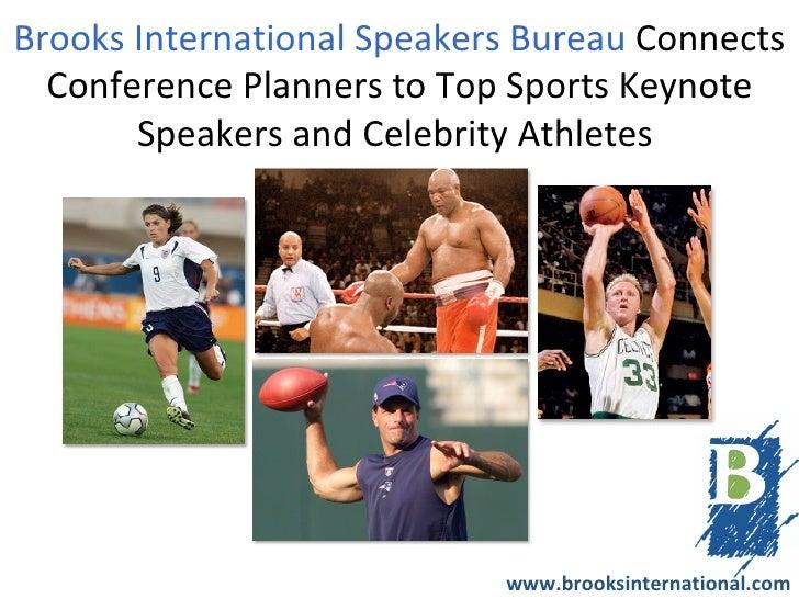 Brooks International Speakers Bureau Connects Meeting Planners to Top Sports Keynote Speakers & Celebrity Athletes