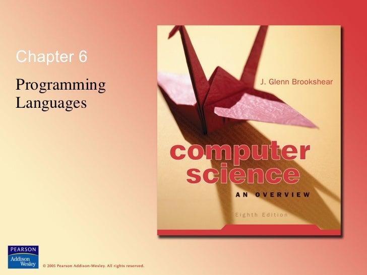 Chapter 6 Programming Languages