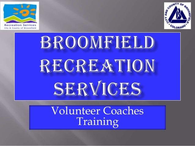 Volunteer Coaches Training