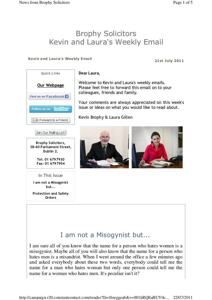 Brophysolicitors Newsletter