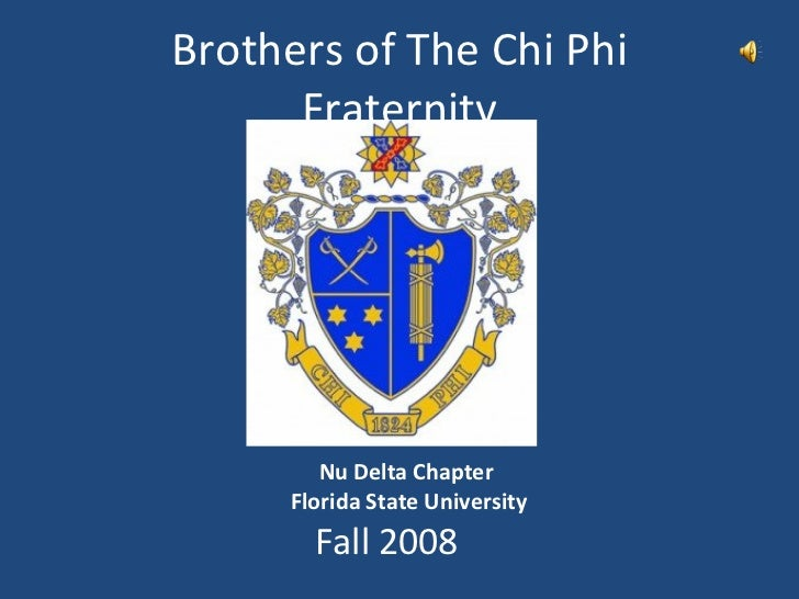 Brothers of The Chi Phi Fraternity Fall 2008 Nu Delta Chapter  Florida State University
