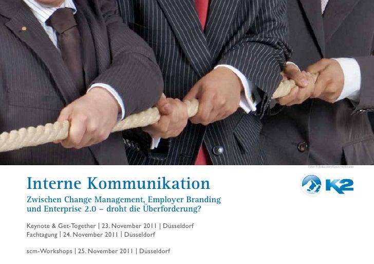 Broschüre zur K2-Tagung Interne Kommunikation am 23. und 24. November 2011