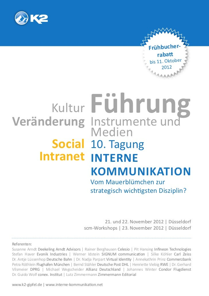 K2-Tagung Interne Kommunikation 21./22.11.2012