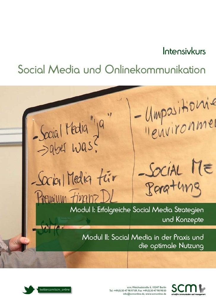 Broschüre zum Social Media Intensivkurs 2012/2013